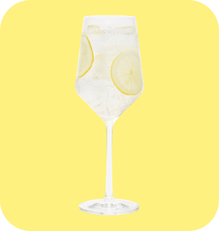 Lemon Drift cocktail glass