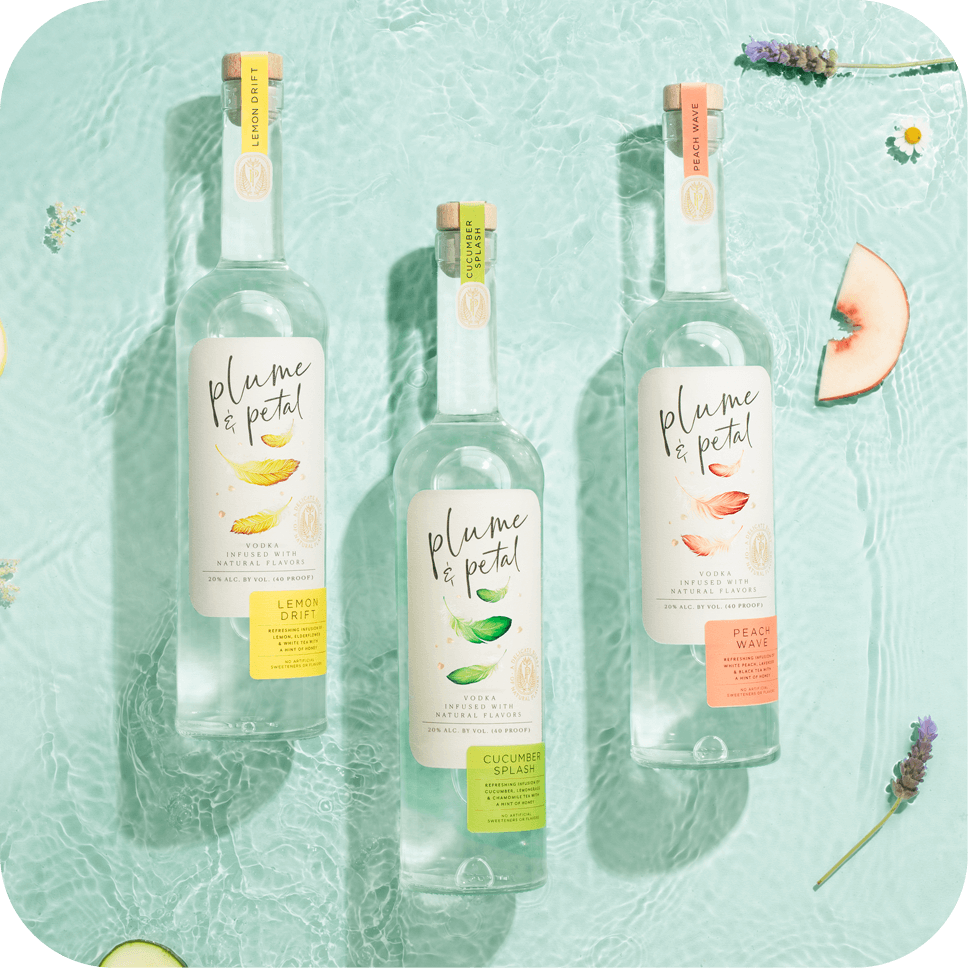 Plume & Petal Bottles - Cucumber Splash, Peach Wave and Lemon Drift